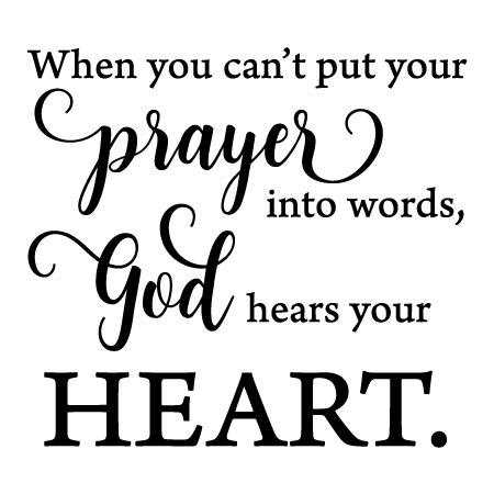 God Hears Your Heart Wall Quotes Decal Wallquotescom
