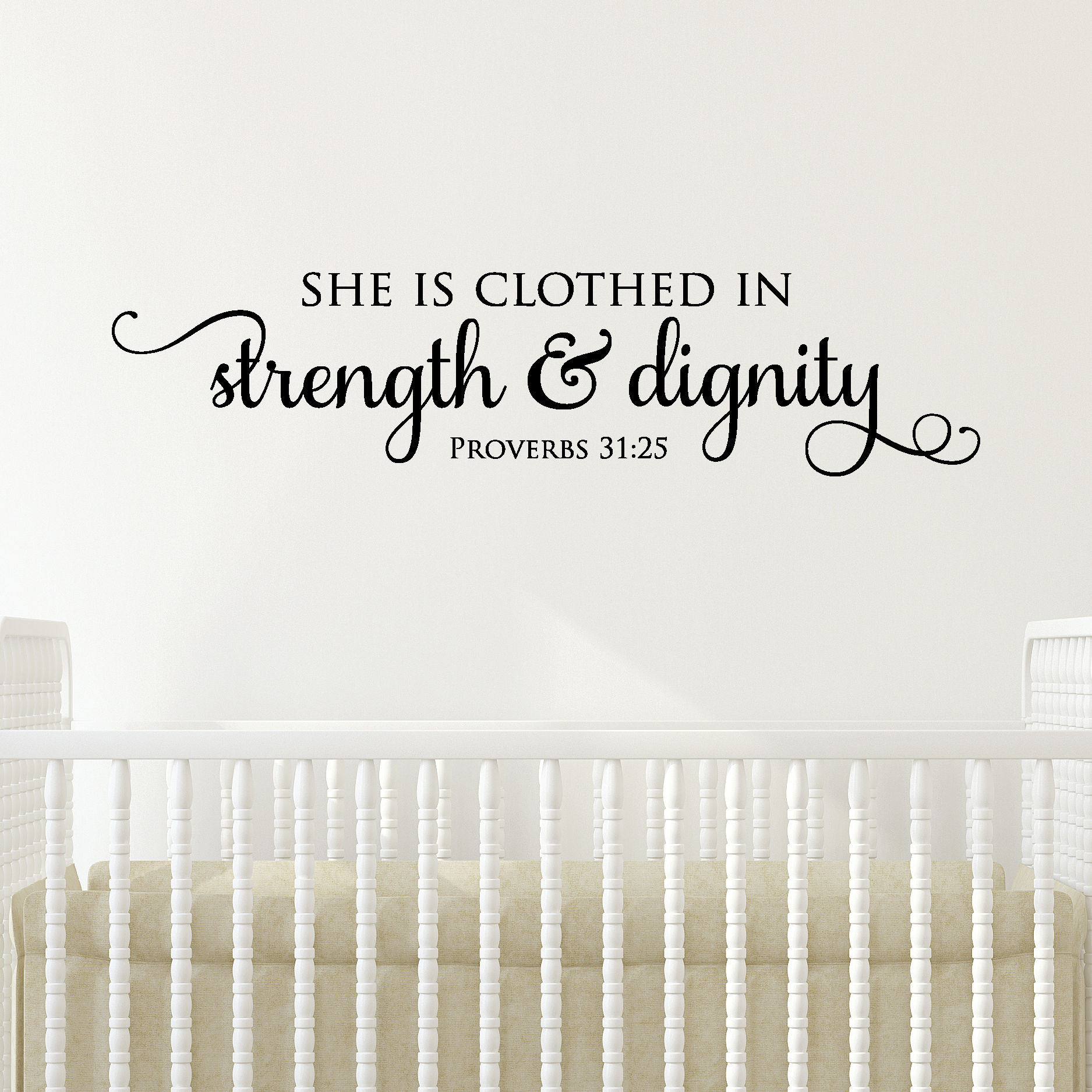 Dignity Wall: Strength & Dignity Wall Quotes™ Decal