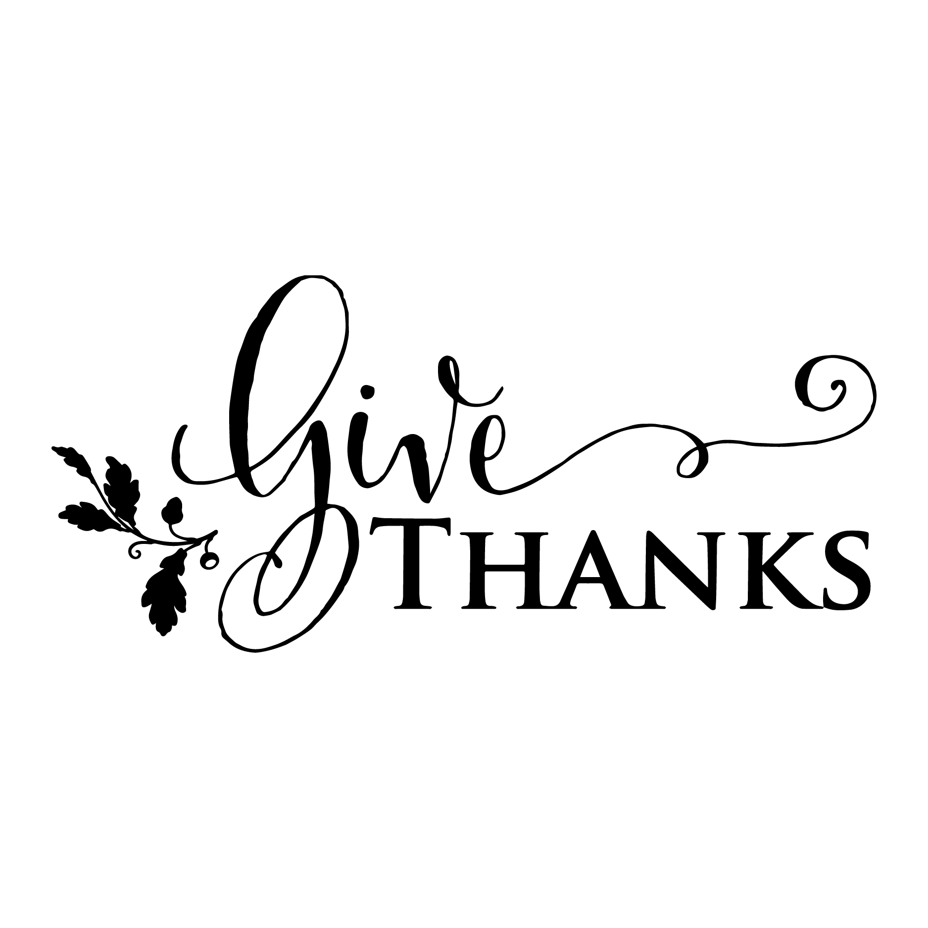 Give Thanks Acorn Wall Quotes Decal Wallquotes Com