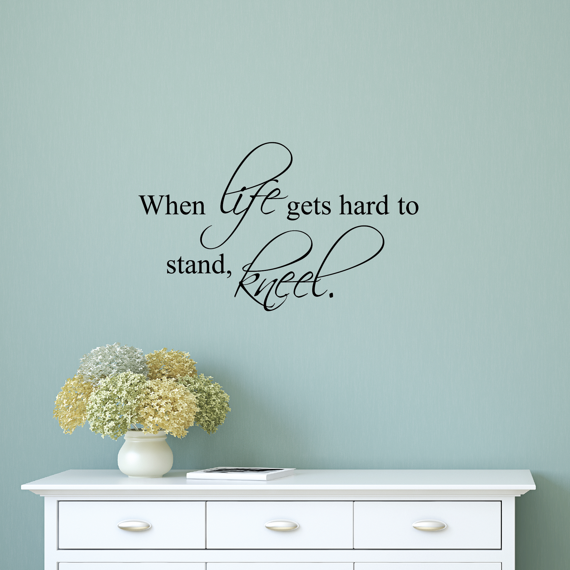 Life Wall Quotes When Life Gets Hard Wall Quotes™ Decal  Wallquotes