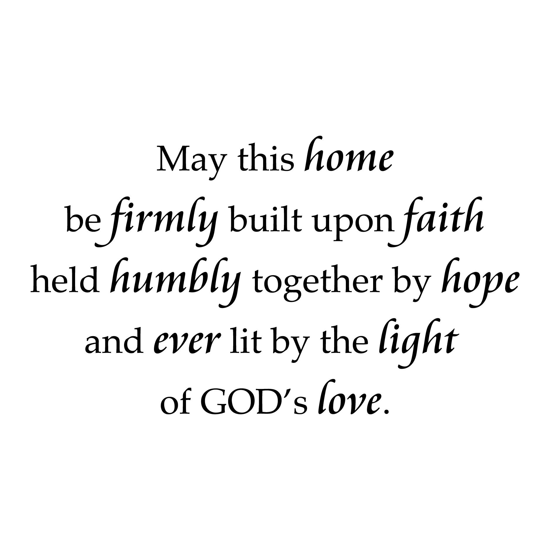 Love And Faith Quotes Home Built On Faith Wall Quotes™ Decal  Wallquotes