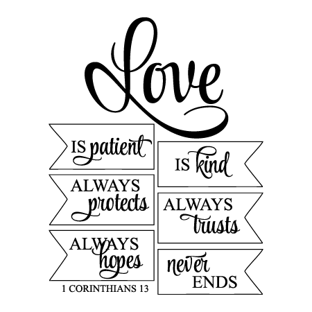 Love Is Kind Quote Entrancing Love Is Patient Wall Quotes™ Decal  Wallquotes