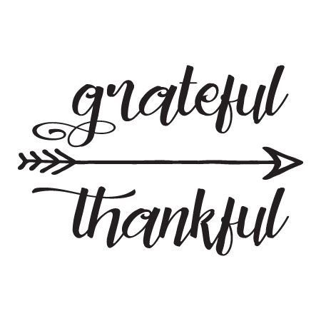 Grateful Thankful Arrow Wall Quotes Decal Wallquotes Com