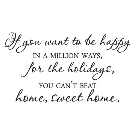 Home Sweet Home For The Holidays Wall Quotes Decal