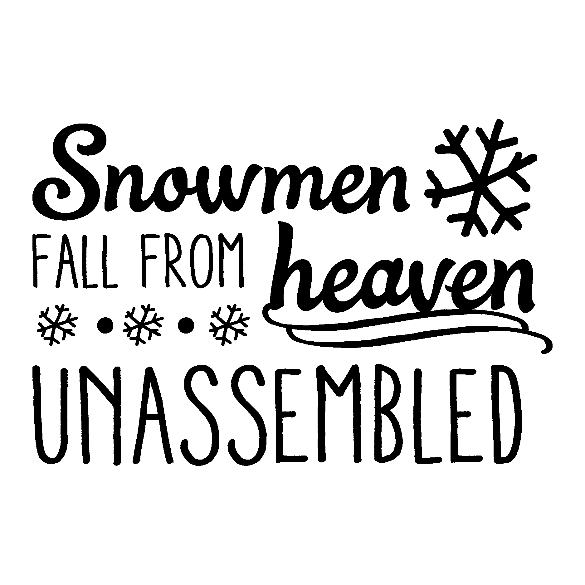 Snowmen Fall From Heaven Unassembled Christmas Vinyl