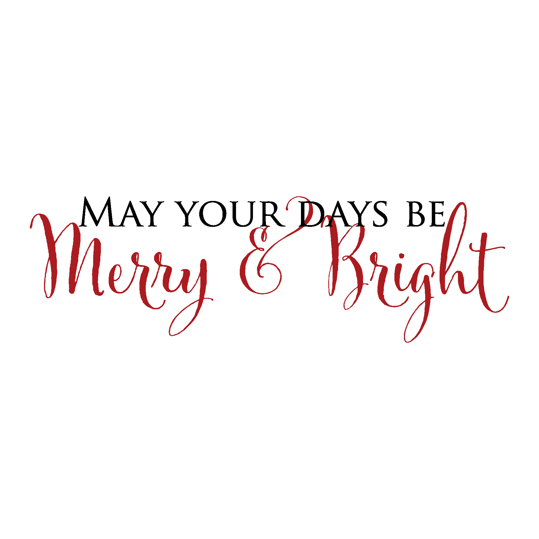 Merry Amp Bright Wall Quotes Decal Wallquotes Com