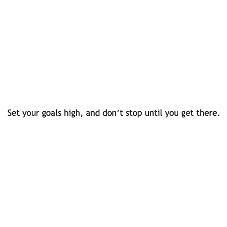 Set Your Goals High Wall Quotes Decal Wallquotes Com