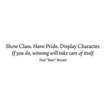 Class Pride Character Wall Quotes Decal Wallquotescom