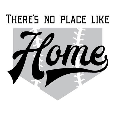 There S No Place Like Home Wall Quotes Vinyl Lettering Decal Decor Baseball Plate