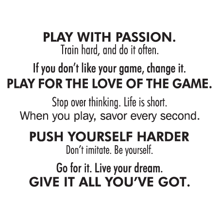 Play With Passion Wall Quotes Decal Wallquotescom