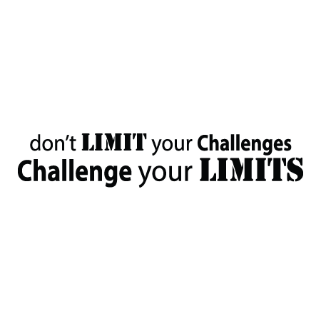 Challenge Your Limits Wall Quotes Decal Wallquotes Com
