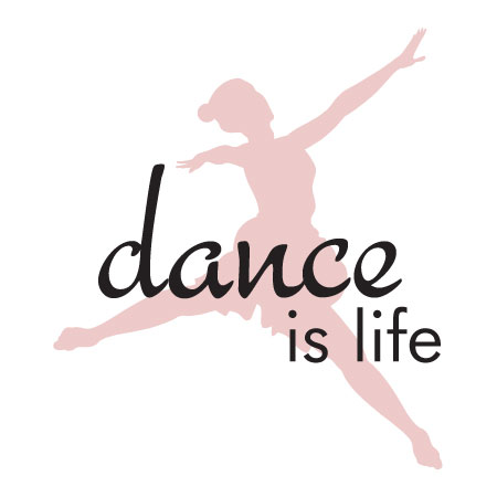 Attractive Dance Is Life Wall Quotes Vinyl Decal Ballet Sports