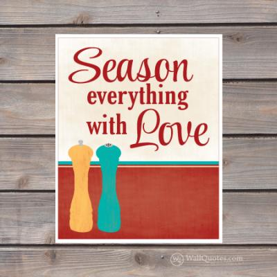 season everything with love print