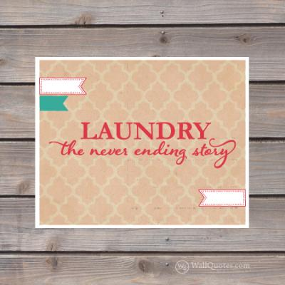 Laundry: The never ending story print