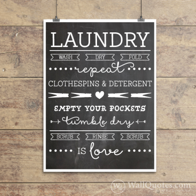 Laundry Is Love Subway Art Wall Quotes™ Giclée Art Print