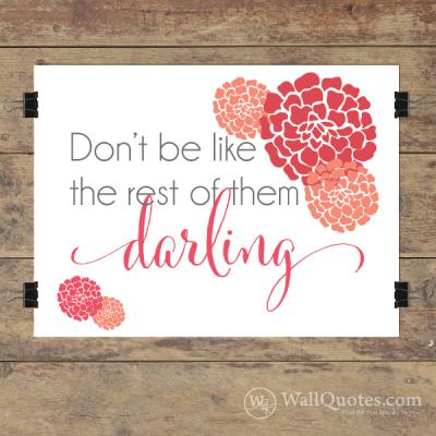 darling Wall Quotes™ Giclée Art Print Pink