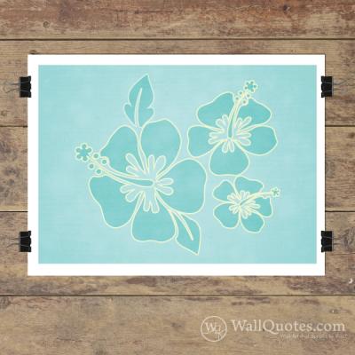 Hibiscus Wall Quotes™ Giclée Art Print