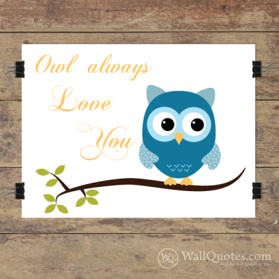 Owl Always Love You Wall Quotes™ Giclée Art Print Navy