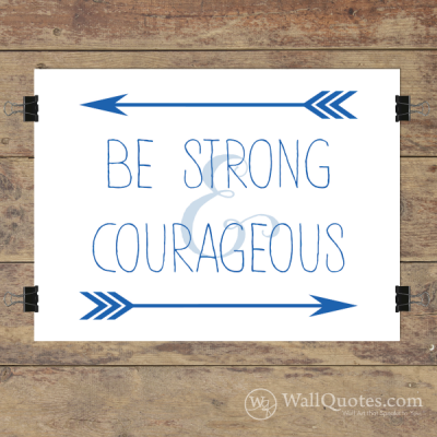Strong & Courageous Arrows Wall Quotes™ Giclée Art Print