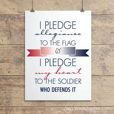 I Pledge Allegiance Wall Quotes™ Giclée Art Print