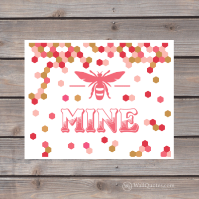 bee mine honeycomb print