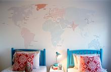textstyles canvas decal world map in room