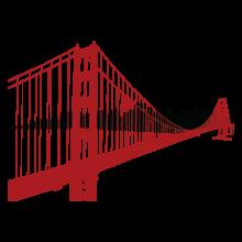 SF Golden Gate Bridge Skyline wall decal