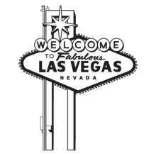 Las Vegas Welcome Sign wall decal