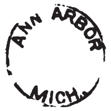 ann arbor MI postmark wall art decal