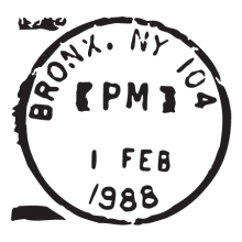 bronx NY feb 88 wall art decal