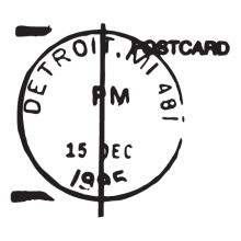 detroit MI postmark wall art decal