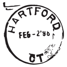hartford CT postmark wall art decal