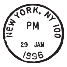 new york ny jan 96 wall art decal