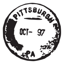 pittsburgh PA postmark wall art decal