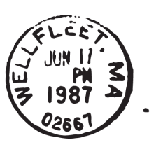 wellfleet ma postmark wall art decal