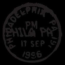 philadelphia pa postmark wall art decal