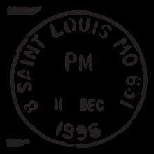 saint louis mo postmark wall art decal