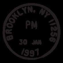 brooklyn ny jan 97 postmark wall art decal