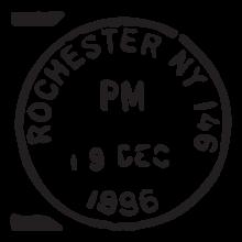 rochester ny postmark wall art decal