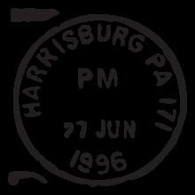 harrisburg pa postmark wall art decal