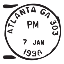 atlanta ga postmark wall art decal