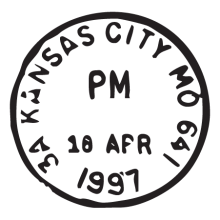 kansas city mo postmark wall art decal