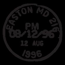 easton md postmark wall art decal