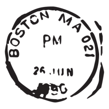 boston ma postmark wall art decal
