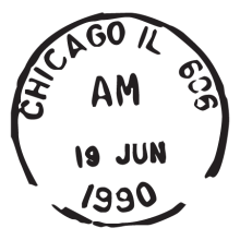 chicago il postmark wall art decal