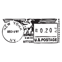 new york ny metered mail postmark wall art decal