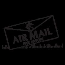 air mail letter postmark wall art decal