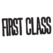 first class postmark wall art decal