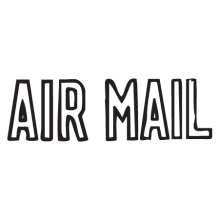 air mail punched letters postmark wall art decal