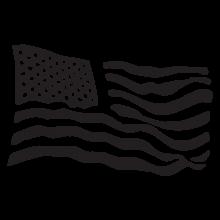 US flag postmark wall art decal